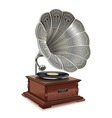 Old gramophone vector image