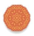 Orange Mandala Isolated Round Ornament vector image