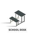school desk icon symbol vector image