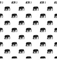 wild elephant pattern vector image