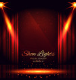 open red curtains theater background vector image
