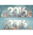 2016 Ferris wheel Winter vector image