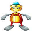 A colorful robot vector image