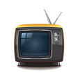 retro tv isolated vector image vector image