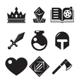 Fantasy game icons vector image