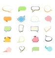 Set of comic bubbles and elements vector image vector image