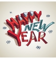Happy New Year 3d typography vector image vector image