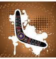 Abstract background with an Australian boomerang vector image