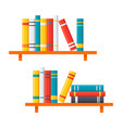 bookshelves icon vector image