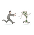 Chasing money vector image