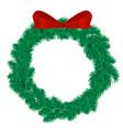 christmas wreath xmas winter vector image