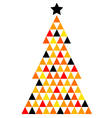 Colorful Xmas Mosaic Tree isolated on white vector image