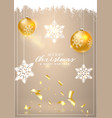 happy new year and christmas christmas card with vector image