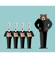 Meeting Office Bear big boss scolds rabbits Hares vector image