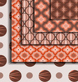 Patterns geometric Brown vector image