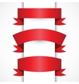 Set of Realistic Red ribbons for your vector image