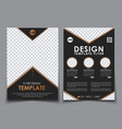 template black a4 brochures vector image