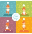 yoga practice set vector image
