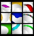 Set of abstract metallic backgrounds vector image