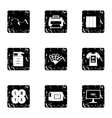 Printing icons set grunge style vector image