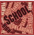 Oklahoma Schools Better Than Ok text background vector image