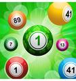 lucky clover bingo ball burst vector image vector image