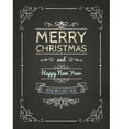 Doodle Merry Christmas Greeting Card vector image