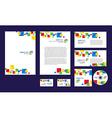 Professional corporate identity design brandbook vector image vector image