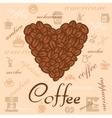 coffee beans art vector image