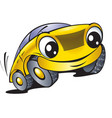 cartoon car with smile vector image vector image