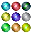 Set of Different Spheres vector image vector image