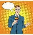 TV reporter male vector image