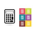 Calculator icon or calculator symbol vector image