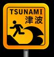 tsunami warining signs vector image