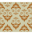 retro floral wallpaper vector image vector image