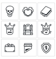 Set of Hamlet tragedy Icons Death Love vector image
