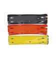 German flag painted on wooden planks isolated vector image