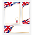 Great Britain flag banners set vector image