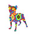 rainbow dog 2 vector image