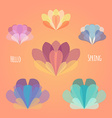 Abstract flower spring background EPS 10 vector image
