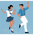 Tap Dancing couple vector image