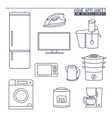Home appliances Line icons vector image