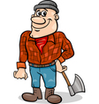 Fairy tale lumberjack cartoon vector image