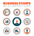 set of business stamps vector image