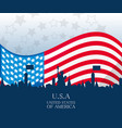 usa country with american flag nation vector image