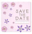 wedding invitational card vector image