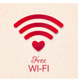 wi-fi red icon vector image