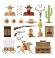 Wild West Decorative Elements Set vector image