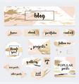 a set of blog design elements kit frames vector image