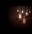 edison light bulb vector image vector image